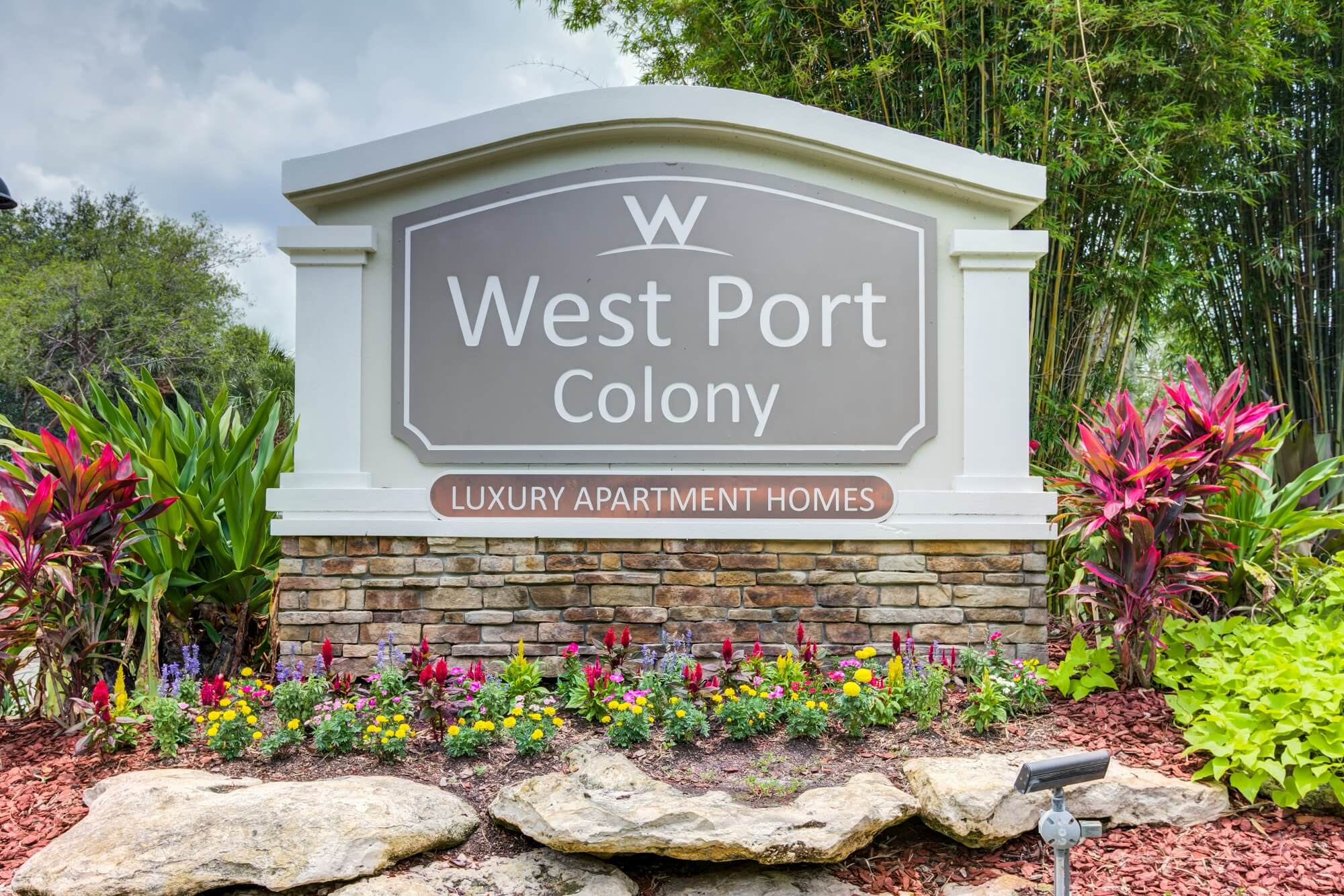 west port colony monument sign.